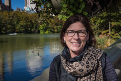 Amy at Bow Bridge in Central Park (Richard Hedrick) Tags: newyorkcity newyork manhattan centralparknewyork bowbridge newyork2015 amyhedrick firstcastironbridgeinpark descansogardens2016