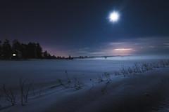 Moonlight (Jyrki Salmi) Tags: winter moon snow field night nikon outdoor nikkor jyrki d600 1635mm salmi