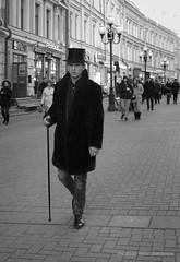 Someone |  (SerjDema) Tags: street people bw moscow lifestyle streetphoto msk bnw pushkin arbat