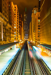 Chicago, Illinois (Matt Shiffler Photography) Tags: urban chicago train transit elevated chicagoland chicagoskyline thel chicagonight