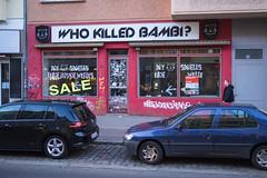 Who killed Bambi? (Fliwatuet) Tags: berlin shop germany de deutschland panasonic ostern prenzlauerberg eberswalderstr m43 mft em5 20mm17 olympusomd