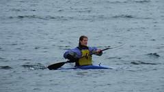 canoes in the Forth 02 (byronv2) Tags: winter sea woman sports water river coast scotland edinburgh kayak canoe forth coastal northsea kayaking portobello canoeist firthofforth riverforth edimbourg rnbforth