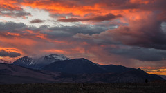 Rainy Sunset Over Mt. Gibbs (Jeffrey Sullivan) Tags: california county travel sunset copyright usa lake storm jeff nature rain weather canon landscape photography eos mono photo timelapse roadtrip april sullivan 2016 monocounty 5dmarkiii