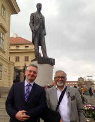 Me with @AmjadBashirMEP today in Prague, preparing CZ-UK-PAK @AllianceECR trade+investment conference this year.
