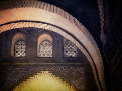 Windows of Hope (Colormaniac too (trying to catch up)) Tags: windows inspiration art texture architecture hope spain moody arches textures alhambra granada andalusia distressed symbolic arabesque flypaper