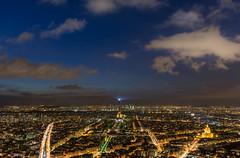 Top of Paris (aurlien.leroch) Tags: sunset paris france skyline clouds europe eiffeltower toureiffel
