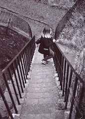 Half way up or half way down? (Chris B70D) Tags: sky white black film water 35mm print outdoors photography aperture scenery exposure exploring grain first scanned manual miranda attempt settings develop 7x5