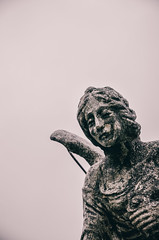 There must be something strangely sacred in salt: it is in our tears and in the sea.  Khalil Gibran (jazzypao) Tags: cemetery graveyard statue sadness emotion cementerio cry estatua