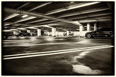 318:365 Reality of lost jobs (Woodlands Photog) Tags: loss texas empty garage parking houston job