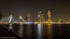 Rotterdam at night (Tom Koedood) Tags: rt120316 roadtrip road trip scheveningen den haag hague sky lucht zon sunshine sun shine blue blauw rotterdam kop van zuid tom koedood tomkoedood diverse media diversemedia holland nederland netherlands dmbui