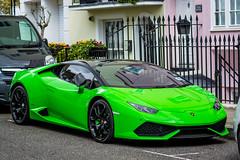 Lamborghini Huracan Green (Yannis_K) Tags: color colour green london colors car colours parking huracan lamborghini supercar sportscar 85mmf18g nikond7100 nikon85mmf18g yannisk