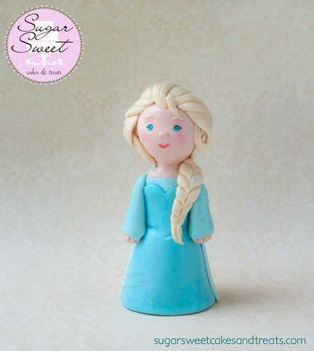 Cute Little Elsa Cake Topper