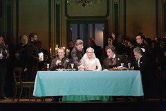 Taylor Stayton, Peter Hoare, Diana Damrau, Ludovic Tézier, Kwangchul Youn in Katie Mitchell's Lucia di Lammermoor ©2016 ROH. Photograph by Stephen Cummiskey (Royal Opera House Covent Garden) Tags: music opera coventgarden royaloperahouse royalopera donizetti luciadilammermoor dianadamrau taylorstayton ludovictézier kwangchulyoun bykatiemitchell peterhoare