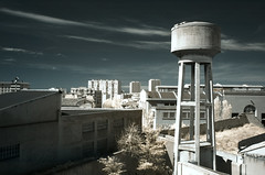Back to business... (Lolo_) Tags: tower water saint ir louis marseille eau infrared chateau