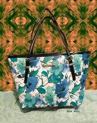 Summer Purse (dog.happy.art) Tags: vinyl purse handbag tote flowered ninewest