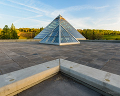 The Chevron [Explored] (WherezJeff) Tags: ca canada architecture triangle edmonton pyramid symmetry alberta goldenhour muttart yeg