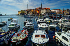 Rovinj, Croatia (David Pirmann) Tags: port boats harbor croatia coastline rovinj hdr adriatic istria