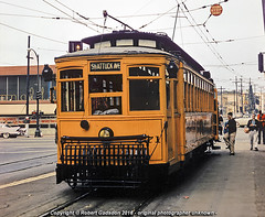 1957 - F Line Excursion.. (Robert Gadsdon) Tags: berkeley university 1957 excursion lehigh shattuck keysystem baera car271