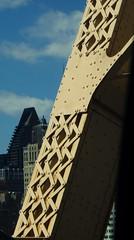 Grand Day: Riveting NYC by Car (catchesthelight) Tags: building rivets industrial manhattan bluesky views queensborobridge rooseveltisland 59thstbridge newyorkcityny springvisit travelbycar edkochbridge bridgecloseup april2016