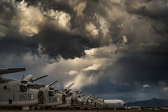 Boneyard (Images by William Dore) Tags: arizona sky rain weather airplane outside outdoors nikon skies desert tucson aircraft sigma planes thunderstorm d810 nikond810