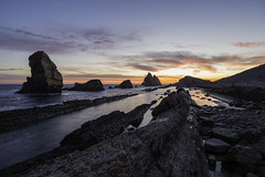 Portio (tejedam79) Tags: ocean sunset sea espaa seascape landscape mar playa paisaje amanecer santander cantabria liencres portio