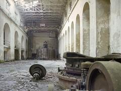 Hydropowerplant (soho42) Tags: abandoned industry film urbanexploration urbex fujireala100 mamiya645protl hydropowerplant