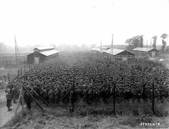 German POWs packed into the Nonant le Pin prisoner camp (1944) [1600 x 1223] #HistoryPorn #history #retro http://ift.tt/1r563oC (Histolines) Tags: camp history pin x retro 1600 le german timeline 1944 prisoner packed 1223 pows vinatage historyporn nonant histolines httpifttt1r563oc