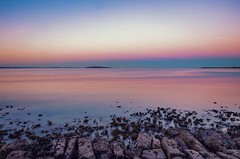 I love the colors (Dimitris&Ruze) Tags: ocean longexposure pink blue sunset sea sky beach nature water colors landscape atardecer coast scotland seaside twilight edinburgh pentax outdoor escocia explore shore reflexions flicker k50 twilightcolors waterreflexions