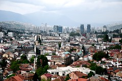 city shapes (-Mina-) Tags: travel urban buildings europe view sarajevo bosnia hills oldtown balkan bosniaandhercegovina