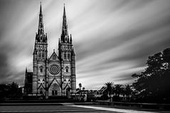Gothic (scotty-70) Tags: bw church architecture sony voigtlander gothic sydney australia stmaryscathedral nex lenstagger nex5r