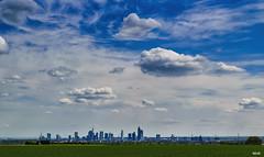 Blick auf die Skyline von Frankfurt am Main / Germany (Katz-Ffm) Tags: sky nature skyline clouds hessen frankfurt wiese 40mm grn nikkor raps nikond5300