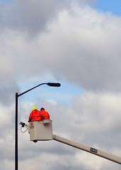 Bucket Buddies (DewCon) Tags: streetlight hoist