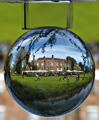 Pashley Manor in a bubble (ttelyob) Tags: ball crystal crystalball pashley pashleymanor picmonkey