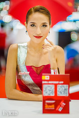 DSC04051 (inkid) Tags: red portrait people girl lady female thailand prime lights model women pretty dof bokeh f14 shell 85mm sigma indoor thai ambient thaigirl hsm motorexpo2015