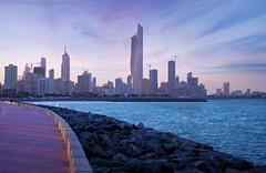 Kuwait City (khalid almasoud) Tags: city sunset sea sky buildings landscape evening flickr pentax towers 400 estrellas mm    photographyrocks k01 kuwit