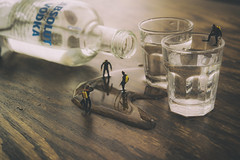 Dive In (abnormally average) Tags: glass fun divers drink shots dive fantasy tiny booze vodka ho littlepeople shotglass smallworld poot babooshka hofigures tinyplanet justmessin railwayfigures abnormallyaverage pootar souppickle