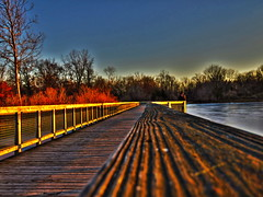 Boardwalk at sunset, HDR (Photos by the Swamper) Tags: sunset boardwalk