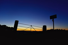 275/365 Perfect dawn (images@twiston) Tags: morning blue winter sky orange silhouette sign yellow stone wall sunrise landscape dawn perfect gate break post silhouettes dry lancashire east signpost 365 cloudless eastern silhouetted blacko wheatheadlane