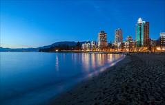 Nights On The Bay (Clayton Perry Photoworks) Tags: winter canada beach skyline night vancouver lights downtown bc englishbay explorebc explorecanada