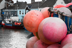 Weymouth Harbour. Weymouth - Macro Lens (dorsetpeach) Tags: pink winter red england macro boat dorset weymouth weymouthharbour oldharbour habrour buouy fisgingboat