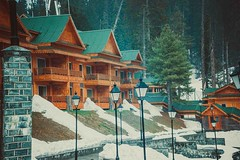 Khyber Gulmarg Mesmerising (D+J+) Tags: wood house cold lamp stone hotel scenery view post lamppost khyber