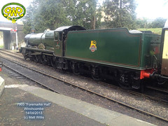 GLOUCESTERSHIRE WARWICKSHIRE RAILWAY 7903 FOREMARKE HALL 14042013 (MATT WILLIS VIDEO PRODUCTIONS) Tags: hall railway gloucestershire warwickshire 7903 foremarke 14042013
