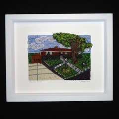 Steubenville Ohio Beaded House Portrait (The Lone Beader) Tags: ohio art beads artwork amazon pittsburgh handmade embroidery etsy commission beading beaded beadwork steubenville seedbeads beadembroidery