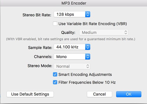 MP3 Encoder Settings in iTunes by Wesley Fryer, on Flickr
