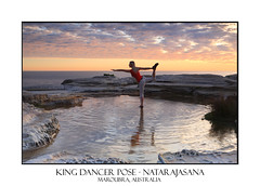King Dancer Pose - Natarajasana (sugarbellaleah) Tags: morning sky people woman nature water beautiful yoga female standing sunrise reflections pose amazing movement scenery pretty exercise horizon scenic lifestyle australia stunning environment posture fitness maroubra asana blance wellness skill wellbeing rejuvenation oneleg healthylife kingdancerpose natarajasana