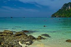 Beach colours, Thailand (Bokeh & Travel) Tags: sea seascape beach nature colors beautiful beauty swimming landscape thailand seaside colorful paradise colours view turquoise tropical transparent phuket naturalbeauty krabi andaman