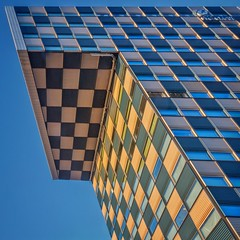 Corners and Angles (Paul Brouns) Tags: school windows urban sun building college architecture square rotterdam pattern geometry balcony sunny diagonal stc architectuur hogeschool diagonally