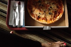 On a date with myself  and pizza... Iphoneonly No Filter Pizza Margherita Pizza In A Box Cutlery Ordering Room Service Ordering Food Staying In Crossed Legs Bare Feet Pink Toenails Pizza Tattoo Foot Tattoo Motel Pizza (Shannon F Gorman) Tags: barefeet cutlery crossedlegs nofilter pinktoenails orderingfood foottattoo pizzamargherita stayingin iphoneonly pizzatattoo orderingroomservice pizzainabox motelpizza