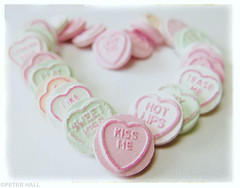 Kiss Me (peterphotographic) Tags: uk pink england food london love canon happy kiss dof message heart sweet bokeh britain valentine depthoffield lust e17 kissme valentinesday walthamstow confectionary lovehearts eastlondon foodphotography hotlips g15 camerabag2 ©peterhall img6351cb2loloedwm