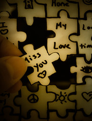 You're The Missing Piece (Kenny Dong) Tags: love paper drawing finger nail fingers creative craft puzzle nails figure fujifilm draw miss imissyou x10
